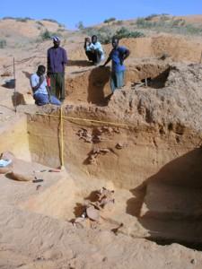 Excavation of Songona 2. Photo A. Mayor
