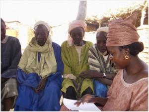 Survey in Douna-Pen village