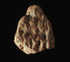 Tesson de céramique du 8e millénaire av. J.-C. (Ravin du Hibou). Photo E. Franzonello