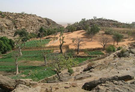 Un paysage rural sahélien qui ne laisse personne indifférent : le vallon suspendu de Yawa (au loin le Séno). Photo M. Rasse