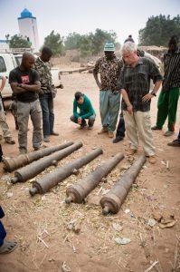 Les canons de Farabana. Photo N. Spuhler